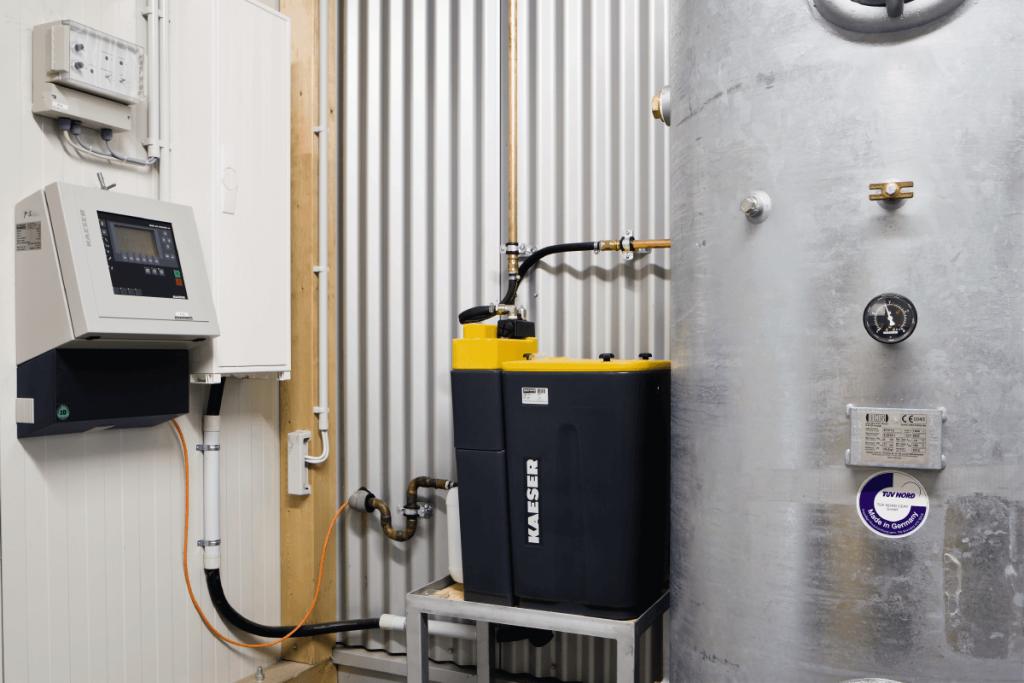 separación de condensados en sistemas de aire comprimido