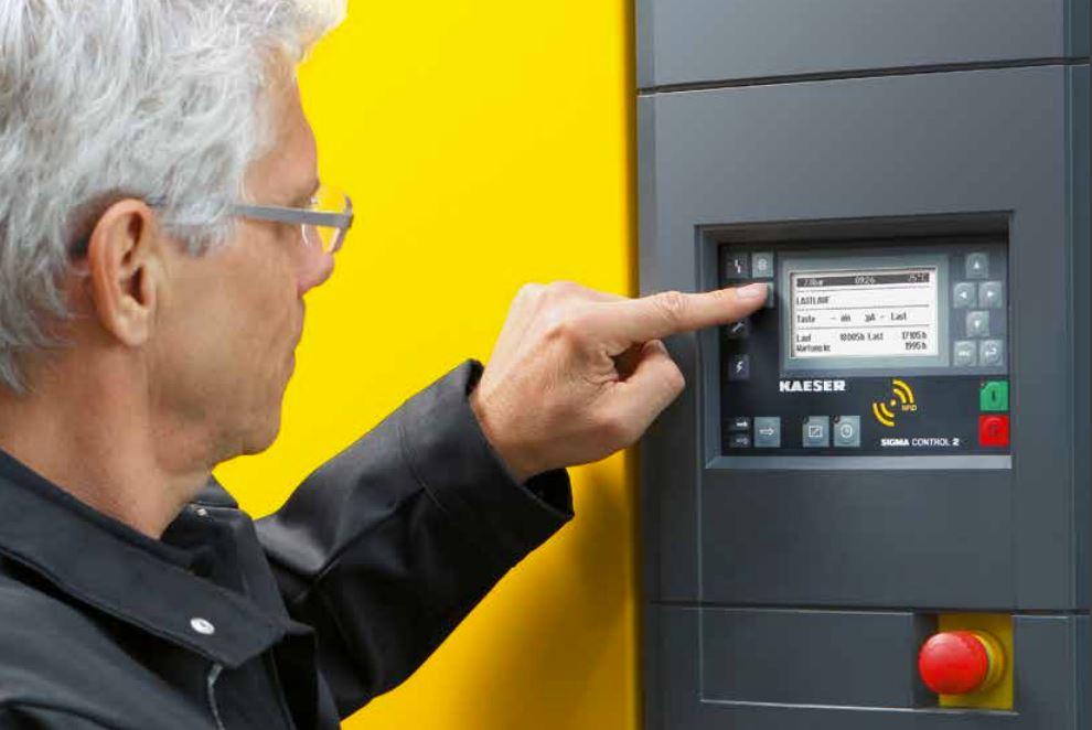 tipos de controladores de compresores de aire