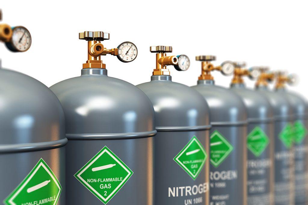 Cómo se obtiene y se embotella el nitrógeno